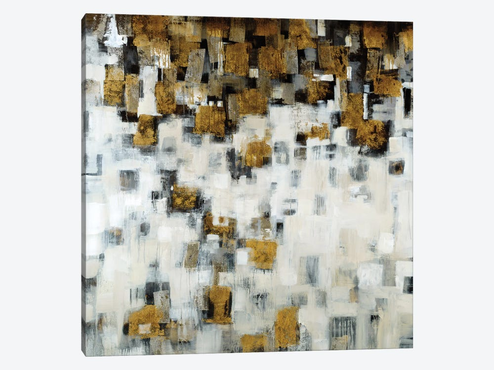 City Nights, Gold by Liz Jardine 1-piece Canvas Art
