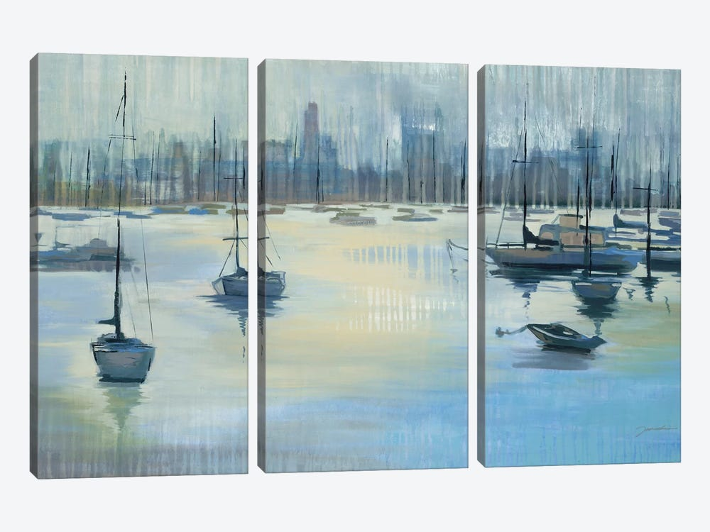 Dropping Anchor by Liz Jardine 3-piece Canvas Wall Art