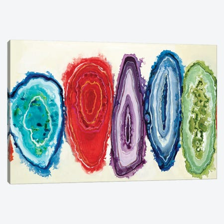 Geode Slice 3-Piece Canvas #JAR291} by Liz Jardine Canvas Artwork
