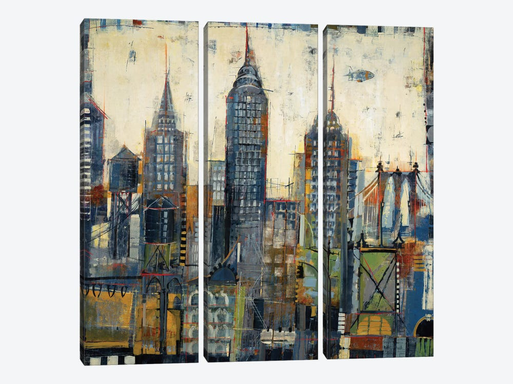 City Sketches 3-piece Canvas Wall Art