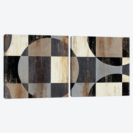 Interlocking Circles Diptych Canvas Print Set #JAR2HSET002} by Liz Jardine Canvas Wall Art