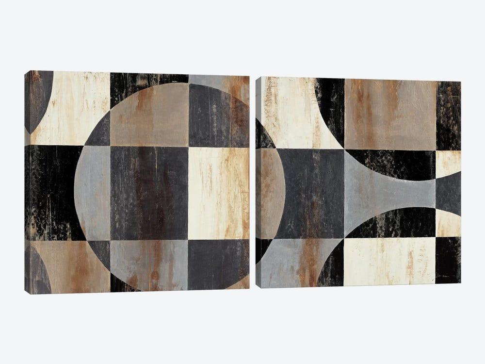 Interlocking Circles Diptych by Liz Jardine 2-piece Art Print