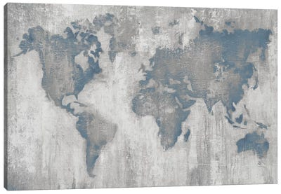 Map of the World V4 Canvas Art Print