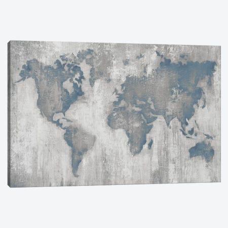 Map of the World V4 Canvas Print #JAR323} by Liz Jardine Canvas Artwork