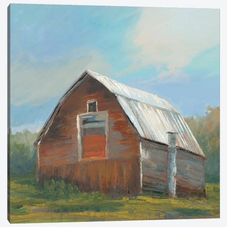 Red Barn Canvas Print #JAR327} by Liz Jardine Canvas Print