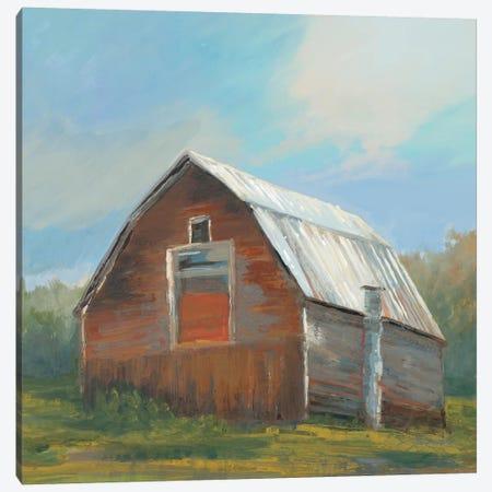 Red Barn Canvas Print #JAR327} by Liz Jardine Canvas Print