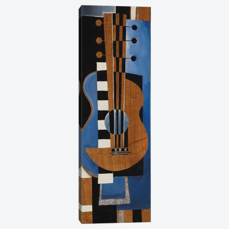 Blues Guitar Canvas Print #JAR334} by Liz Jardine Canvas Art