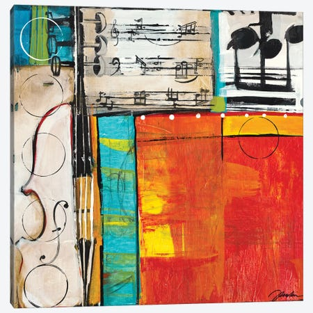 Sheet Music II Canvas Print #JAR340} by Liz Jardine Canvas Wall Art