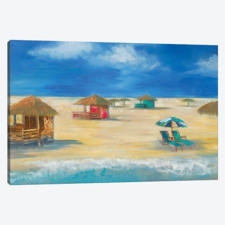 Beach Bungalows Canvas Print #JAR344} by Liz Jardine Art Print
