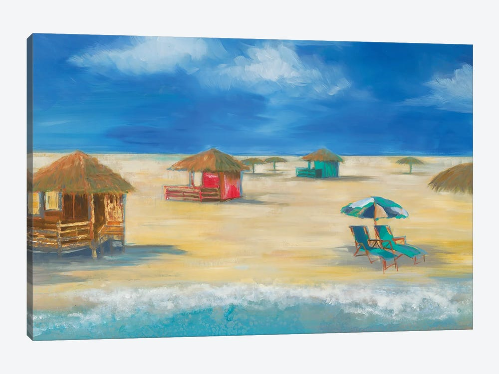 Beach Bungalows by Liz Jardine 1-piece Canvas Wall Art