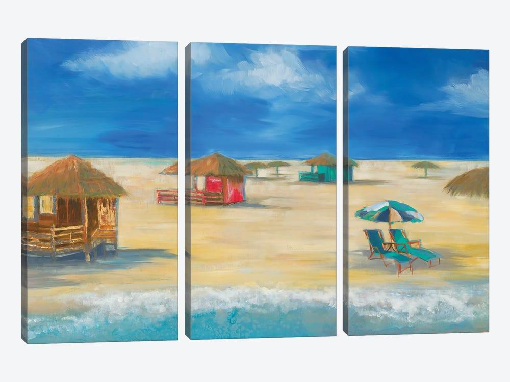 Beach Bungalows by Liz Jardine 3-piece Canvas Artwork