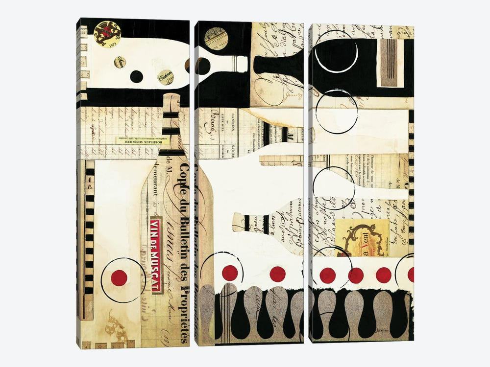Deco Vino I by Liz Jardine 3-piece Art Print