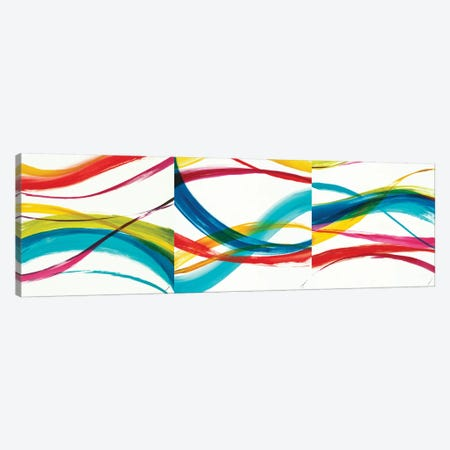 Neon Currents Triptych Canvas Print Set #JAR3HSET001} by Liz Jardine Canvas Artwork