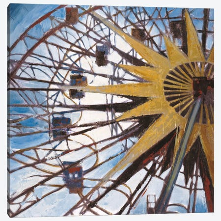 Ferris Wheel Canvas Print #JAR45} by Liz Jardine Canvas Artwork