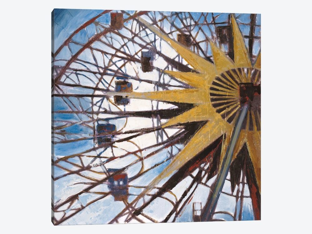 Ferris Wheel by Liz Jardine 1-piece Canvas Artwork