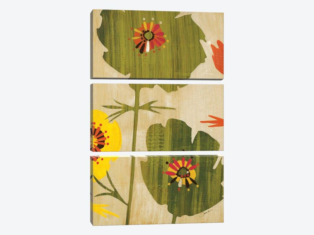 Garden Of Delights I by Liz Jardine 3-piece Canvas Wall Art