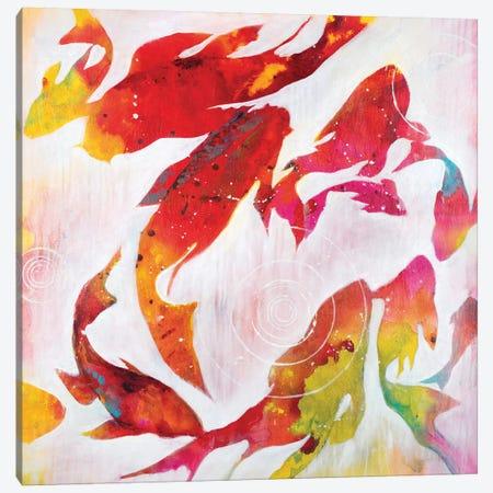 Koi Pond Canvas Print #JAR75} by Liz Jardine Canvas Print