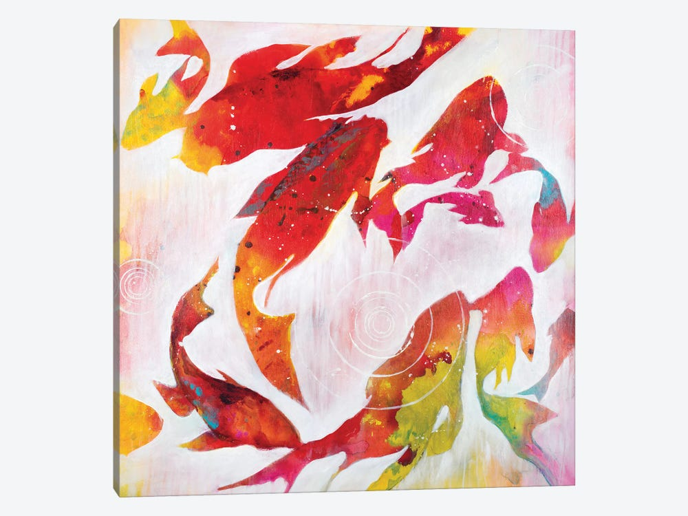 Koi Pond by Liz Jardine 1-piece Canvas Art Print