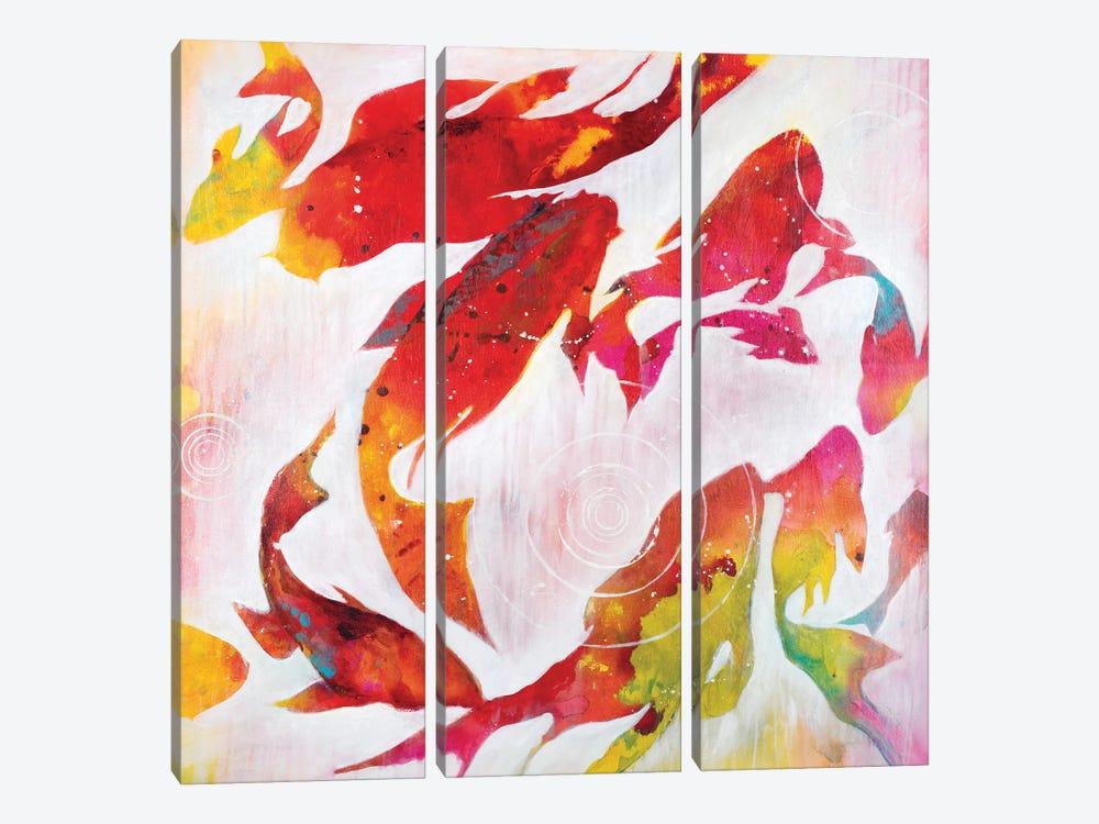 Koi Pond by Liz Jardine 3-piece Art Print