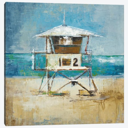 Lifeguard Tower Canvas Print #JAR80} by Liz Jardine Canvas Print