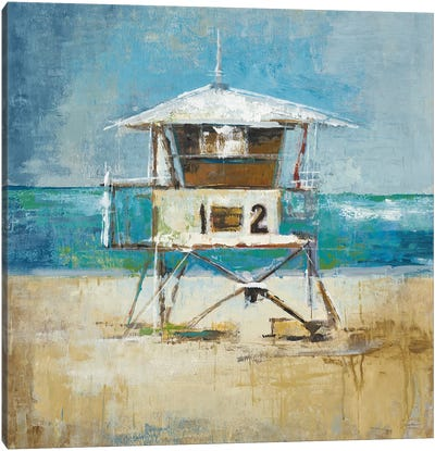 Lifeguard Tower Canvas Art Print