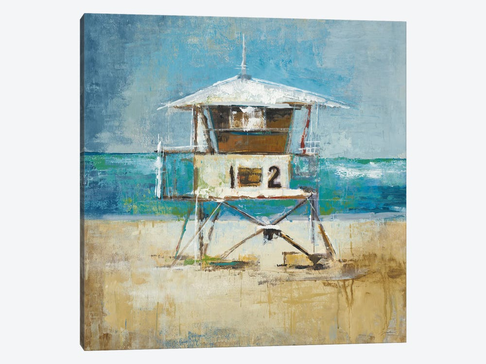 Lifeguard Tower by Liz Jardine 1-piece Art Print