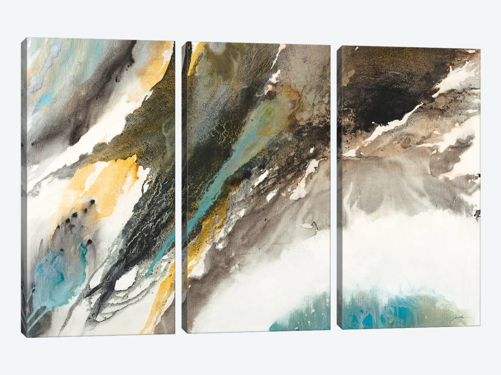 Liquid Mercury by Liz Jardine 3-piece Canvas Art Print