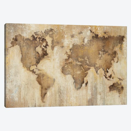 Map Of The World Canvas Print #JAR83} by Liz Jardine Art Print