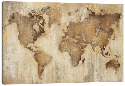 Map Of The World Canvas Art Print