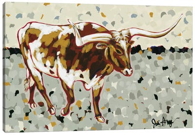 Longhorn Steer Canvas Art Print
