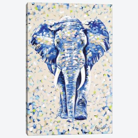 Peanut Elephant Canvas Print #JAU12} by Jodi Augustine Art Print