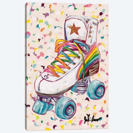 Retro Rainbow Canvas Print #JAU14} by Jodi Augustine Canvas Artwork