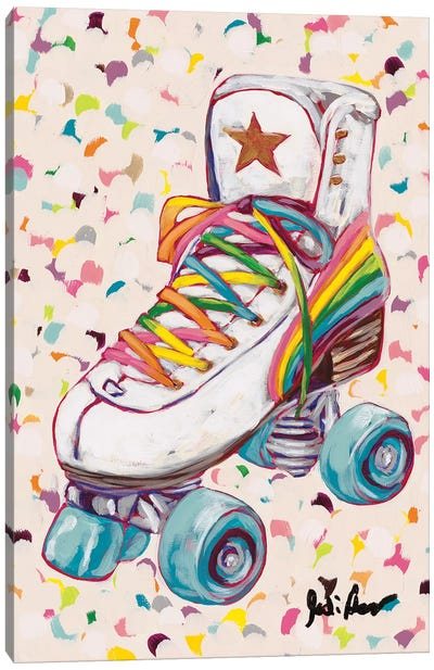 Retro Rainbow Canvas Art Print