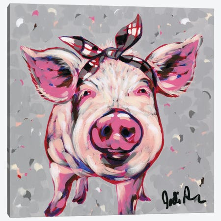 Farm Pop-Priscilla Canvas Print #JAU16} by Jodi Augustine Canvas Art
