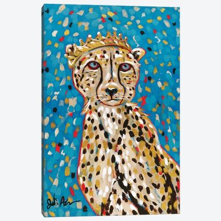 Queen Cheetah Canvas Print #JAU19} by Jodi Augustine Canvas Art Print
