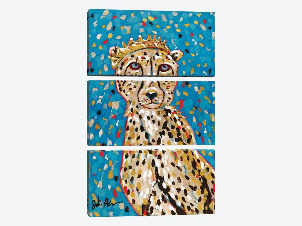 Queen Cheetah by Jodi Augustine 3-piece Canvas Wall Art