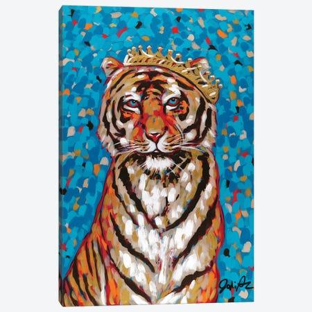 Queen Tiger Canvas Print #JAU20} by Jodi Augustine Canvas Art