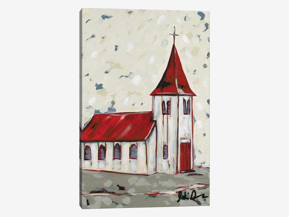 Here Is The Church by Jodi Augustine 1-piece Canvas Artwork