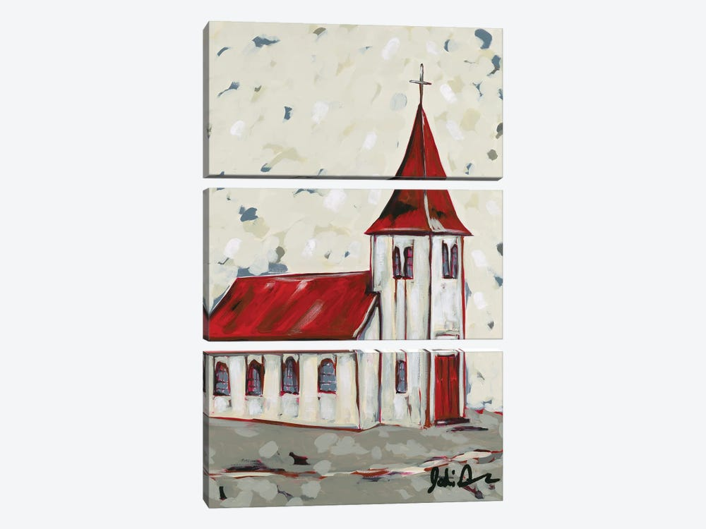 Here Is The Church by Jodi Augustine 3-piece Canvas Artwork