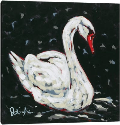 White Swan Canvas Art Print