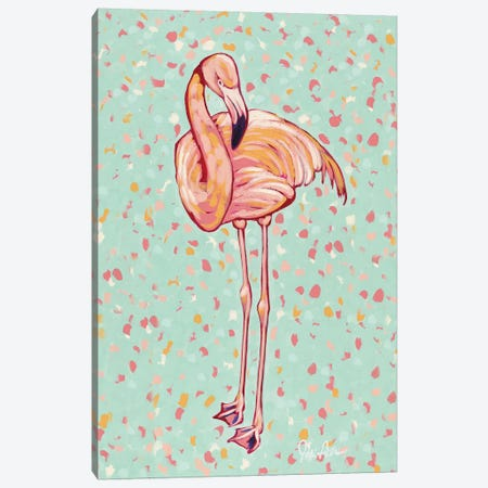 Flamingo Portrait I Canvas Print #JAU3} by Jodi Augustine Canvas Wall Art