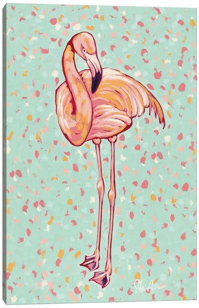 Flamingo Portrait I Canvas Art Print