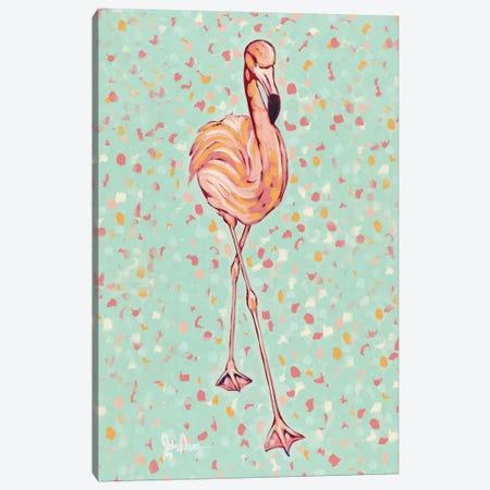 Flamingo Portrait II Canvas Print #JAU4} by Jodi Augustine Art Print