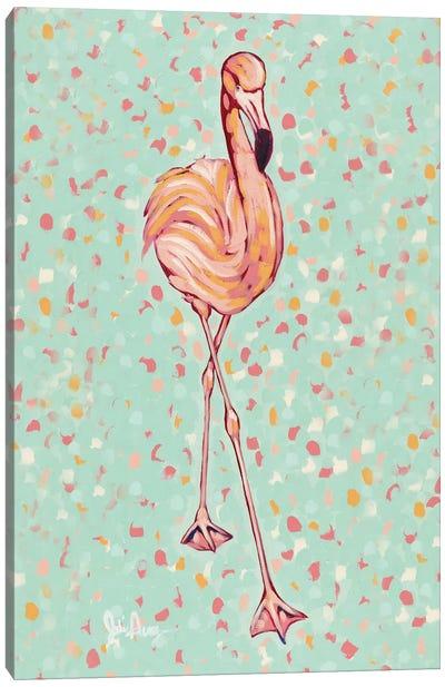 Flamingo Portrait II Canvas Art Print