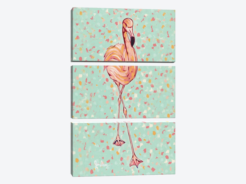Flamingo Portrait II by Jodi Augustine 3-piece Canvas Artwork