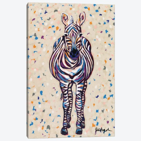 Fruit Stripe Zebra Canvas Print #JAU7} by Jodi Augustine Art Print