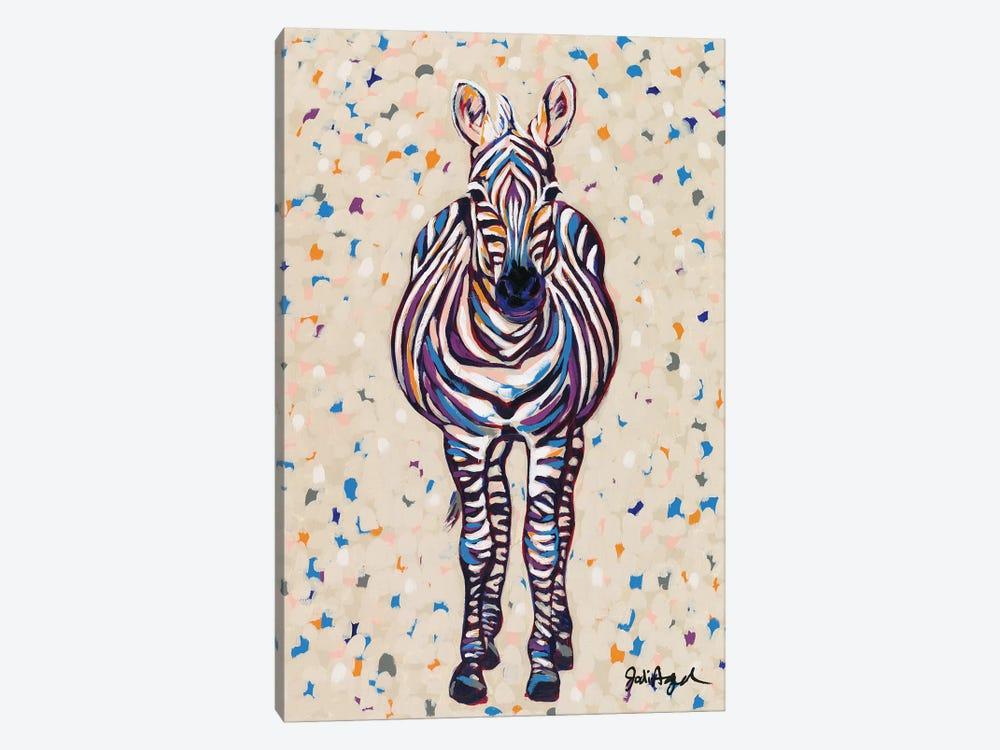 Fruit Stripe Zebra by Jodi Augustine 1-piece Canvas Print