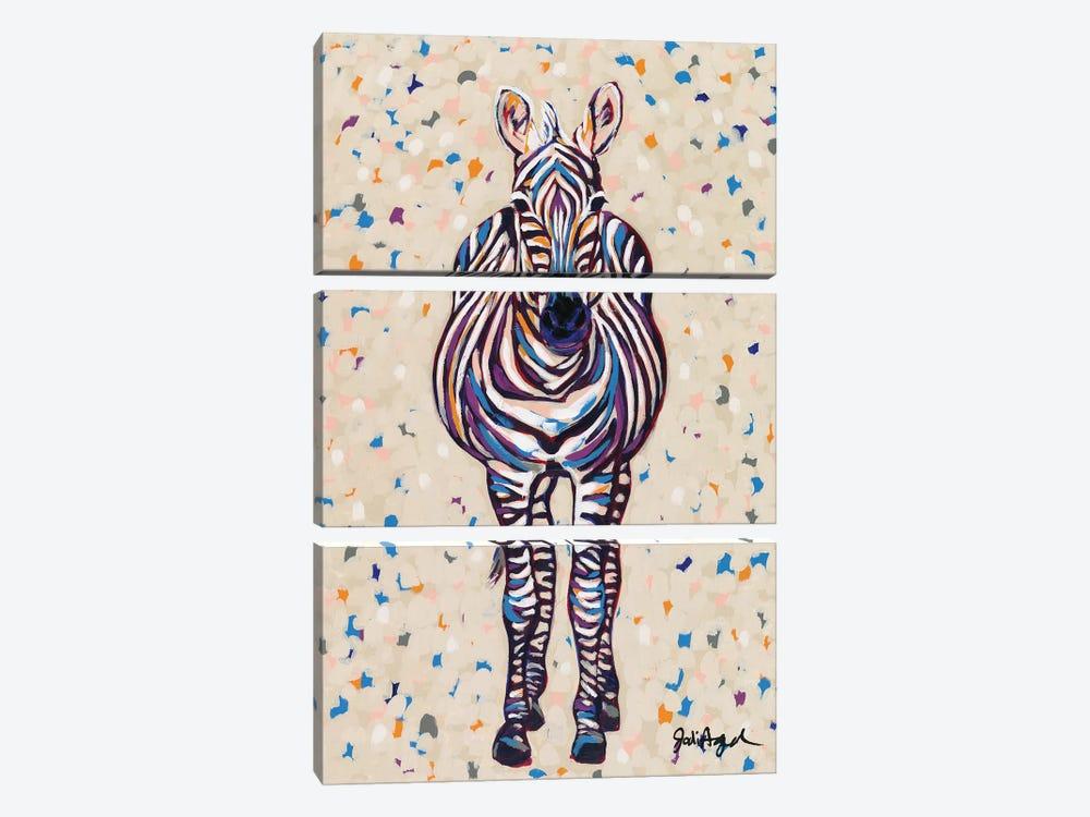 Fruit Stripe Zebra by Jodi Augustine 3-piece Canvas Print