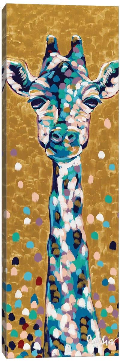 Golden Girl Giraffe Canvas Art Print