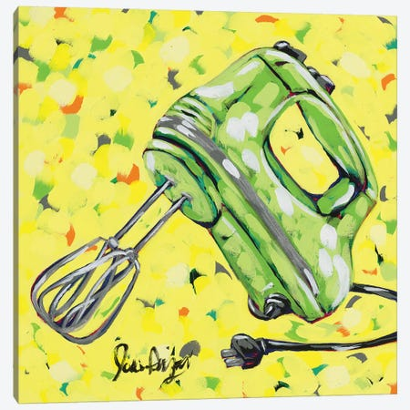 Kitchen Sketch Mixer Canvas Print #JAU9} by Jodi Augustine Canvas Wall Art